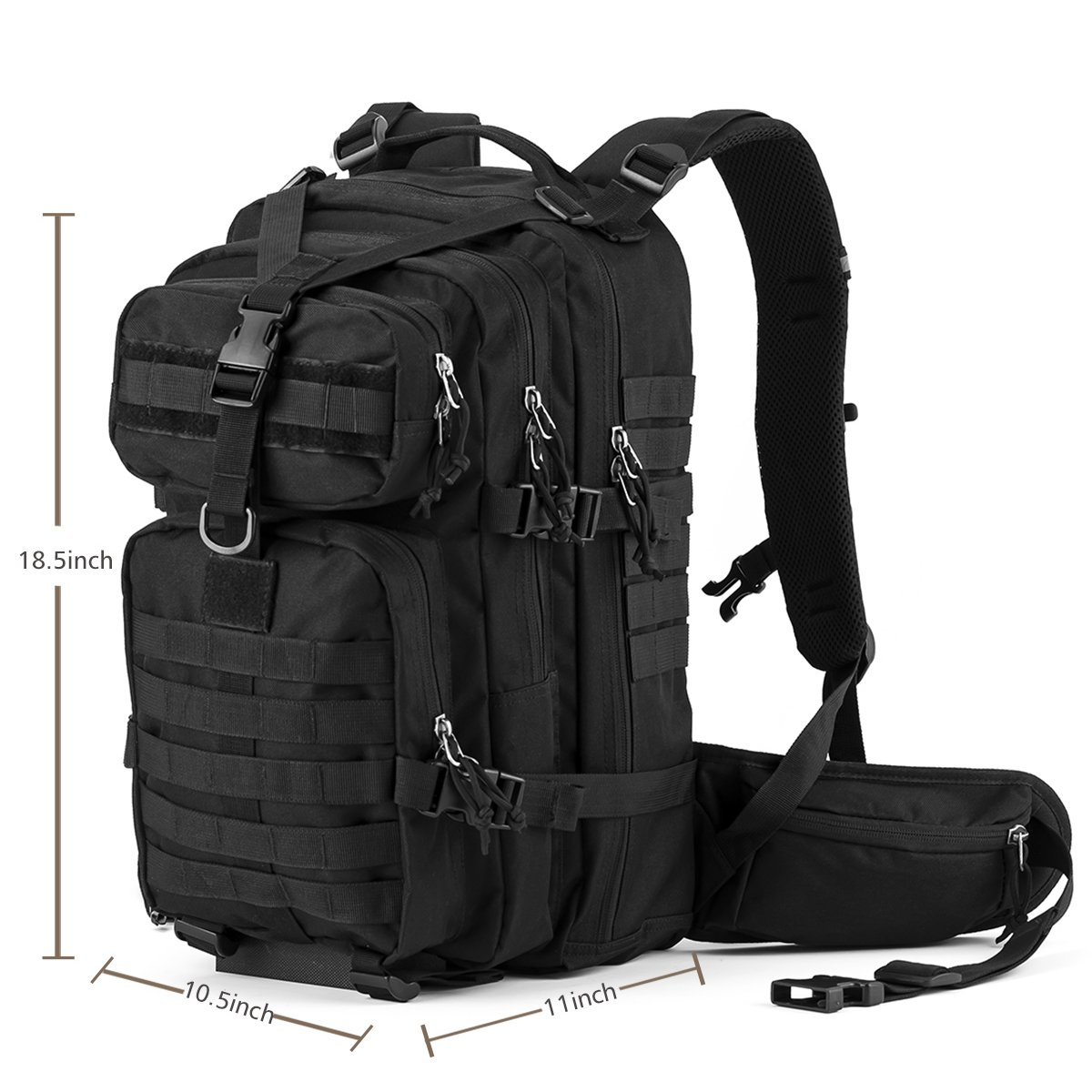 Gelindo Military Tactical Backpack, Hydration Backpack, Army Molle Bug-out Bag, Small Rucksack for Hunting, Survival, Camping, Trekking, 35L: Amazon.es: ...
