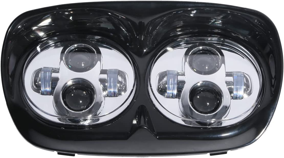 XMT-MOTO Dual LED Projector Headlight Lamp For Harley Road Glide FLTR 1998 1999-2013