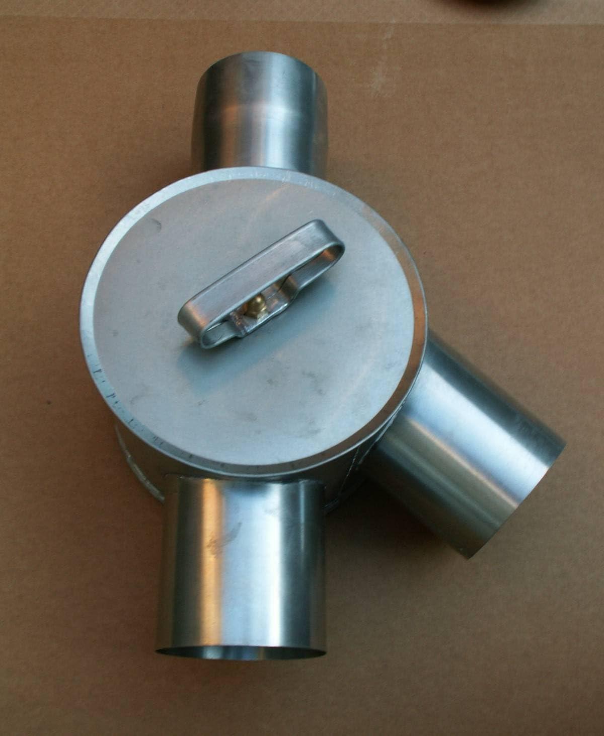 mittel Regenwasserverteiler Titanzink rechts in den Gr/ö/ßen 80 und 100 mm