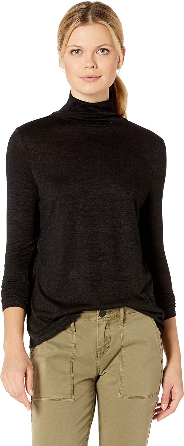Black Onyx NIC & ZOE Womens Every Occasion New Mock Top Blouse