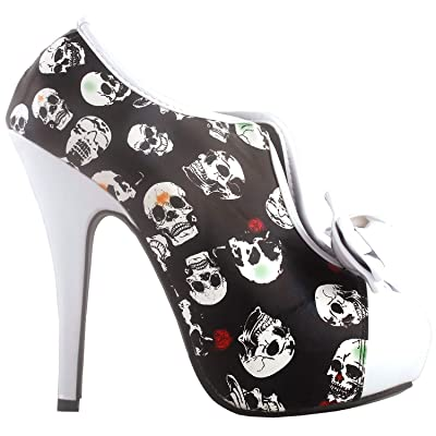 SHOW STORY Vintage Two Tone Bow Platform Stiletto High Heel Ankle Boots, LF30427 | Ankle & Bootie
