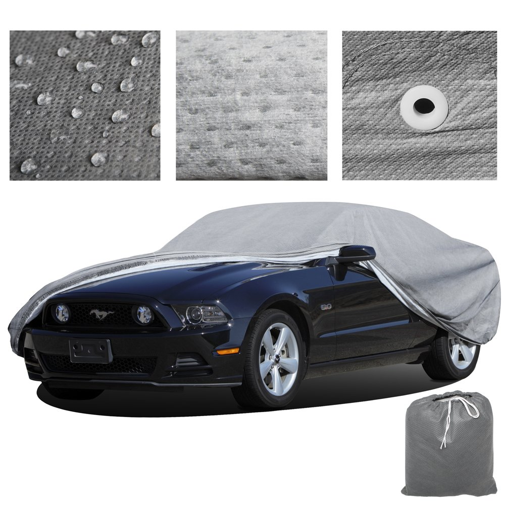 OxGord Signature Car Cover - 100 Water-Proof 5 Layers - True Mastepiece - Ready-Fit Semi Custom - Fits up to 144 Inches