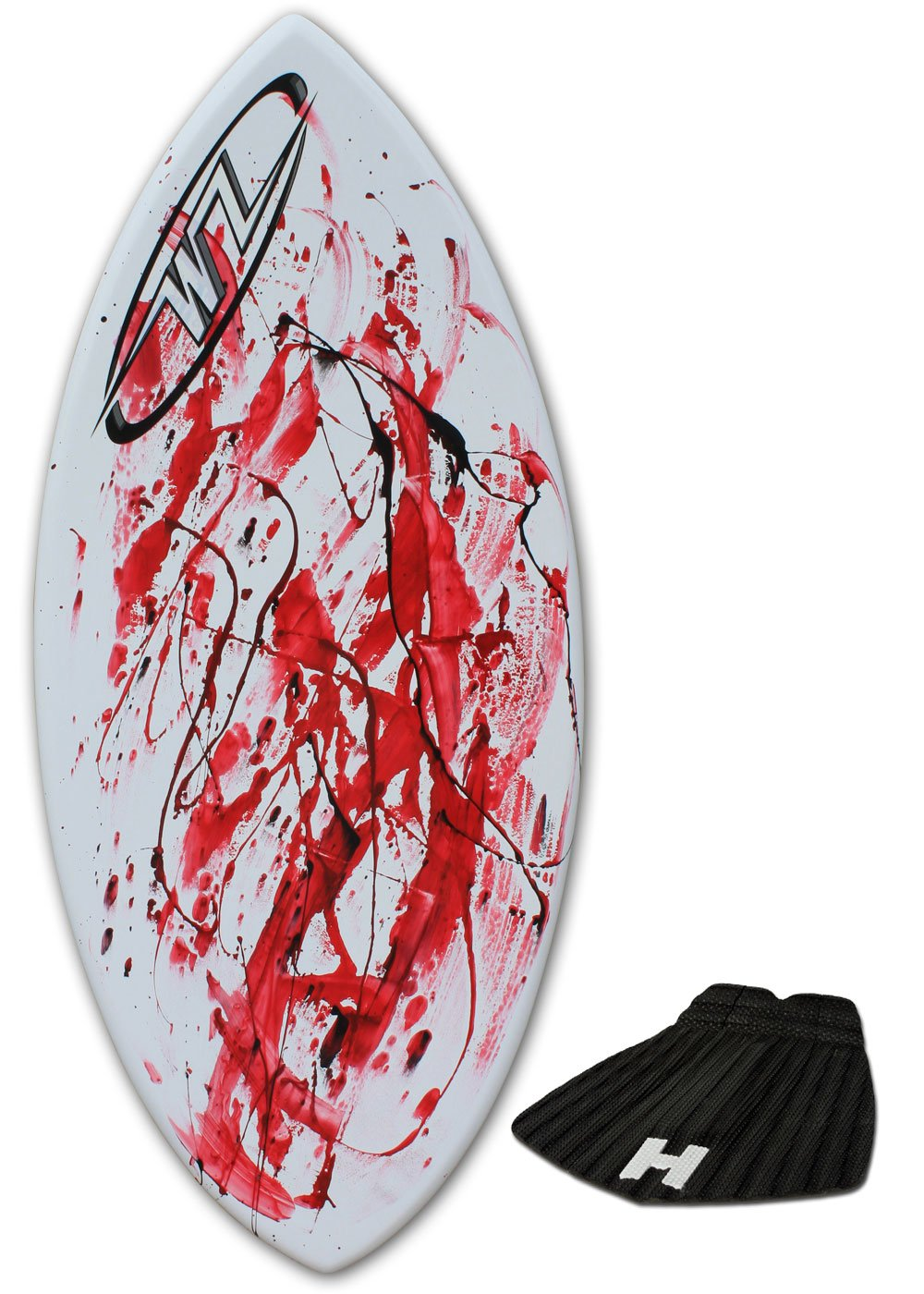 Skimboard Package 45 Fiberglass Wave Zone Surge plus Board Bag and//or Traction Pad For Riders up to 160 lbs Red