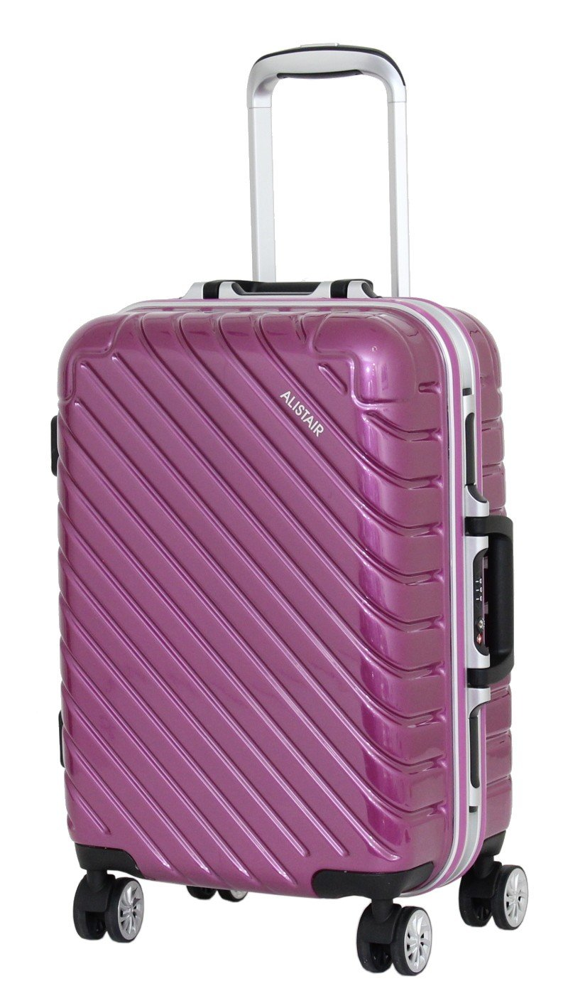 Valise Taille Cabine 55 cm Alistair Infinity - Abs Ultra Lé gè re - 4 Roues - Argent