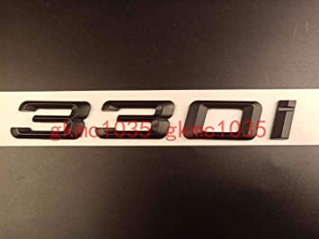 Trunk Letters Badge Emblem Matte Black Letters 335i For BMW 3-Series E90 E92