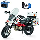 Peg Perego Ducati Hypercross Motorcycle Ride On with Spare 12 Volt Battery and Charger