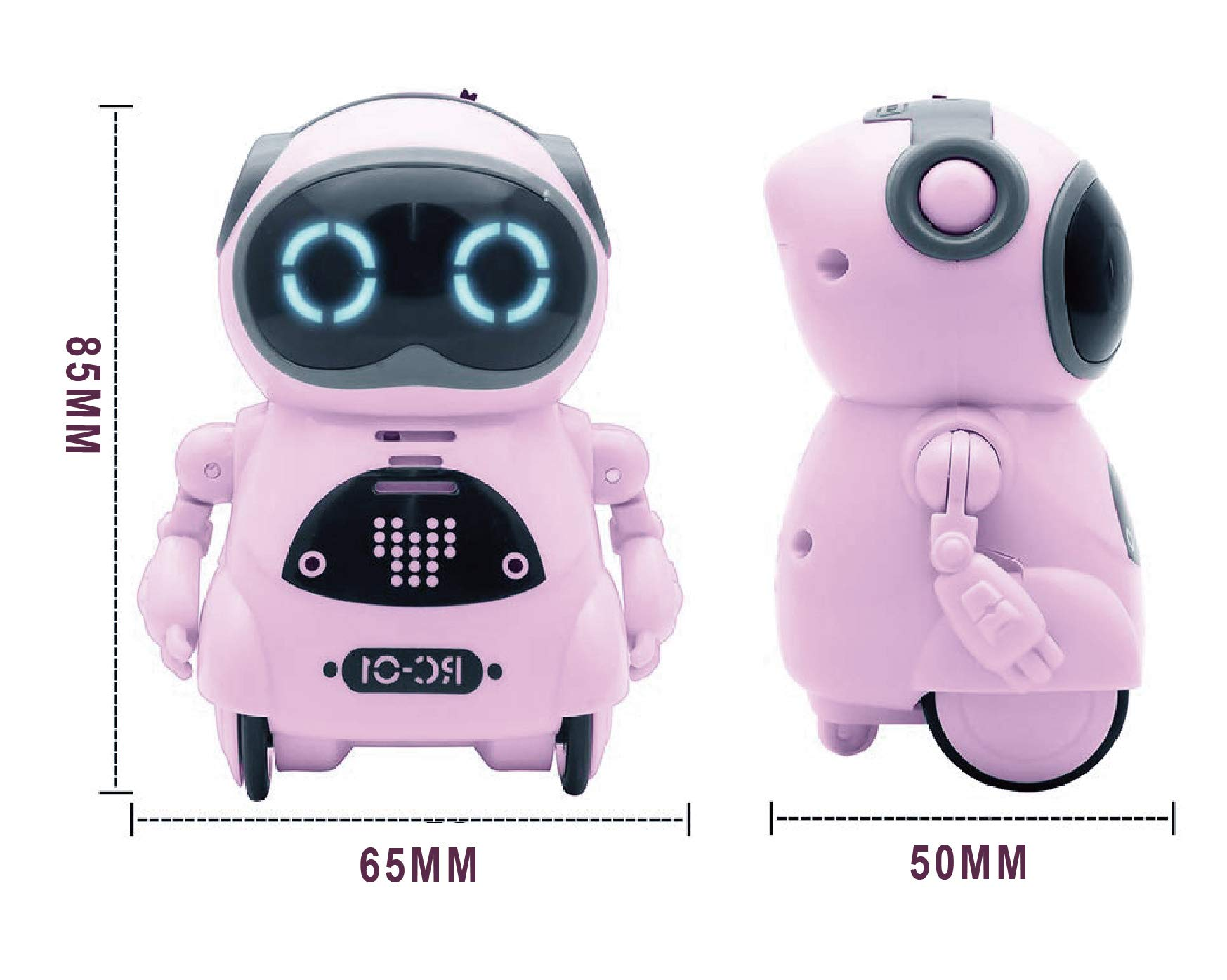 SPACE LION Educational Mini Pocket Robot for Kids Interactive Dialogue Conversation,Voice Control, Chat Record, Singing & Dancing-Pink by SPACE LION (Image #5)