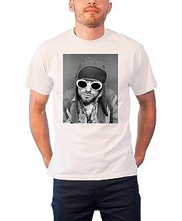 Amazon.com: FEA playera de Kurt Cobain Smoking Foto en ...