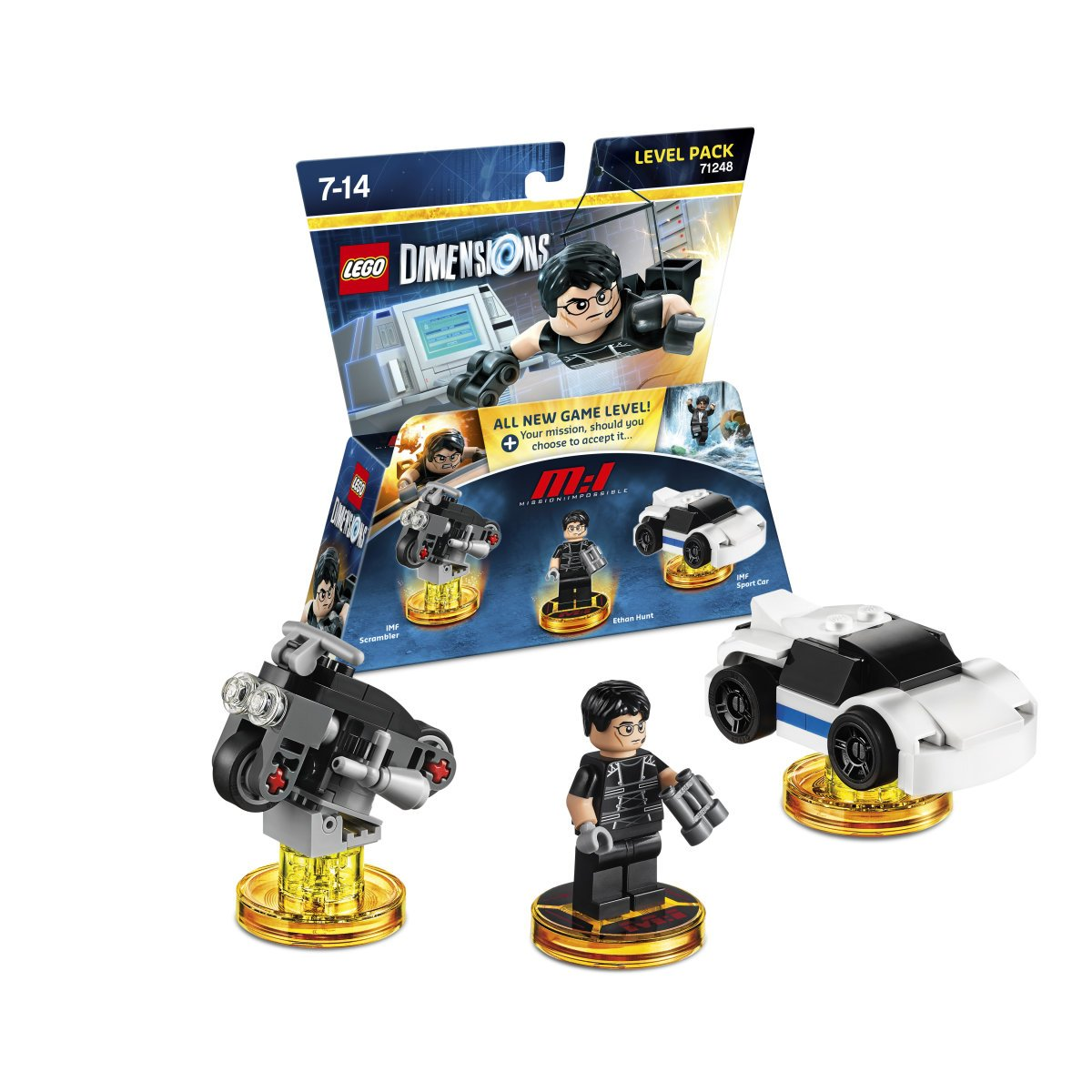 """71248 NEW LEGO Ethan Hunt Dimensions Minifigure /""""Mission Impossible/"""""""
