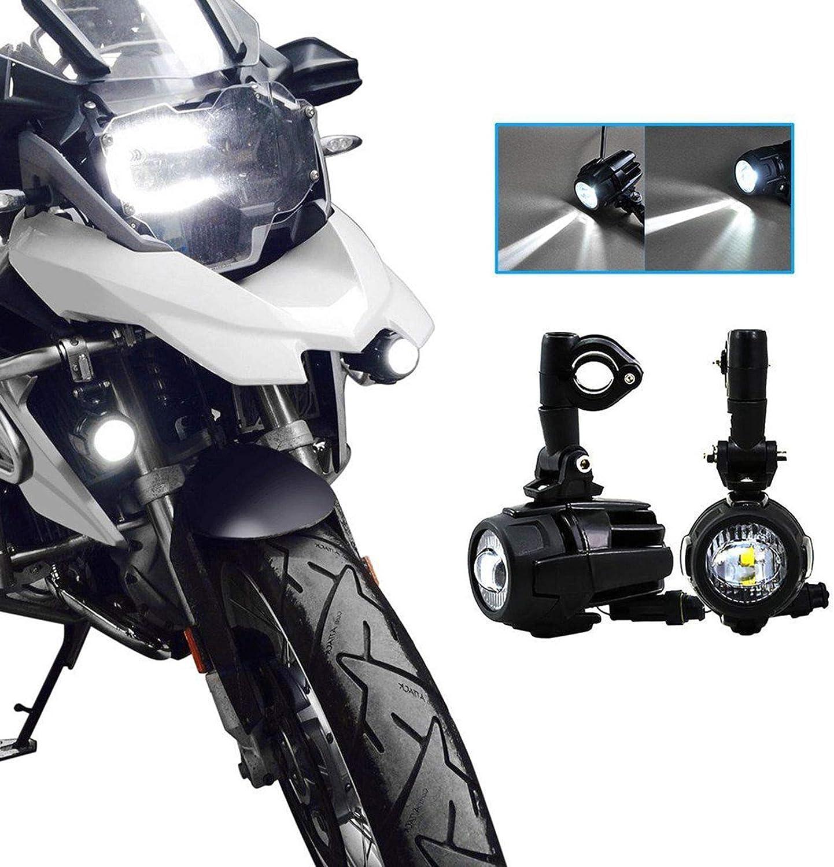 Motocicleta Luces de Niebla LED,Lámparas Auxiliares 40W Lámparas de Conducción de Haz Puntual para R1200GS ADV F800GS F650 LC ADV 1190 1190R 1290 Motocicletas Universales