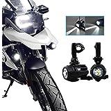 Luces de niebla de la motocicleta LED,Lámparas Auxiliares 40W Lámparas de conducción de haz puntual para R1200GS ADV F800GS F650 LC ADV 1190 1190R 1290 Motocicletas universales
