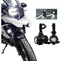 Motocicleta Luces de Niebla LED,Lámparas Auxiliares 40W Lámparas