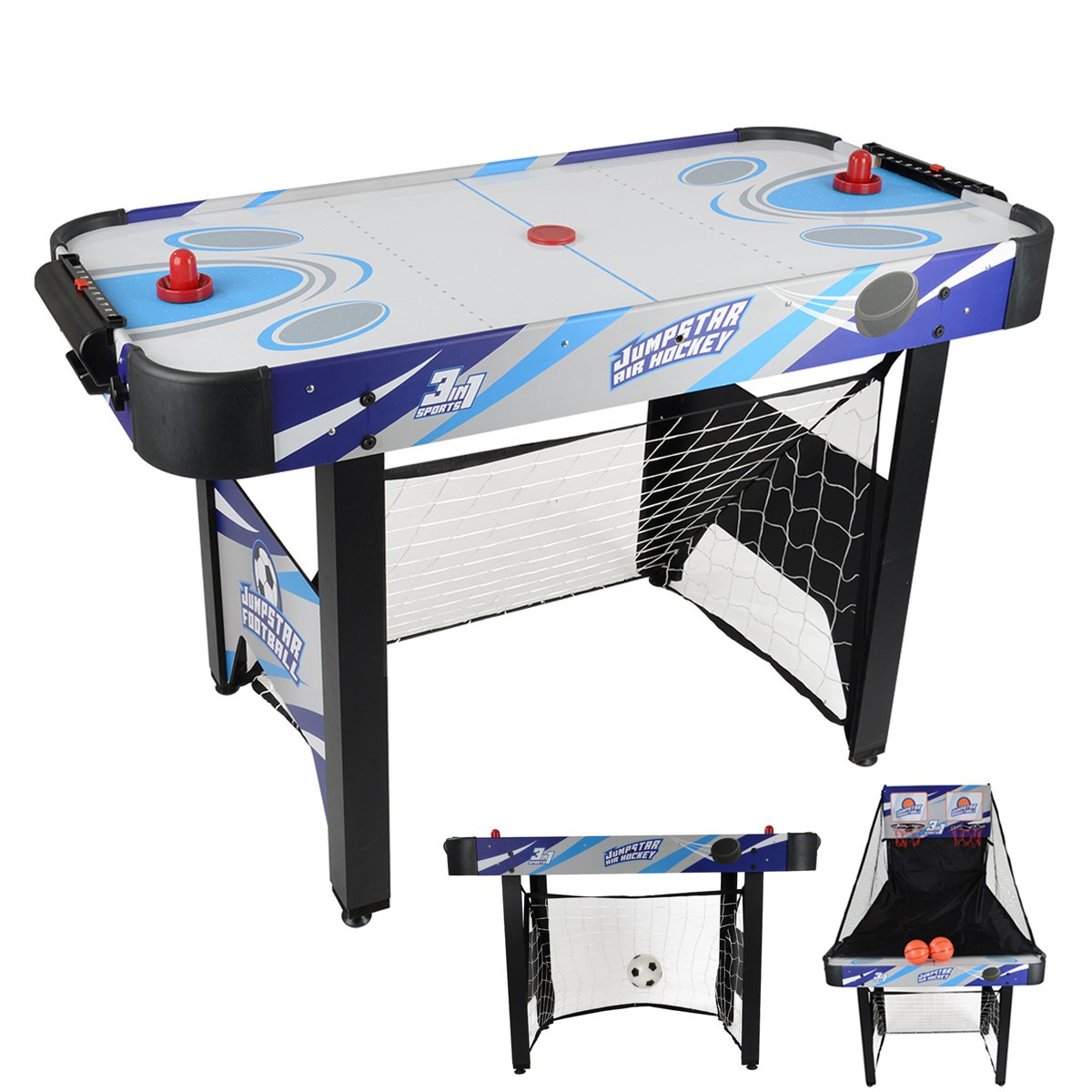 JumpStar 240V Kinder 3-In-1 Multi-Spiele Tischtennis Fußball