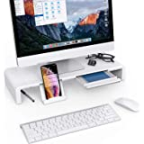 Monitor Stand Riser, Klearlook Maximized Clarity Foldable Computer Monitor Stand, Adjustable Computer Stand Desk Organizer wi