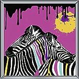 Ravensburger Malen nach Zahlen 29018 - Zebras, 30 x 30 cm