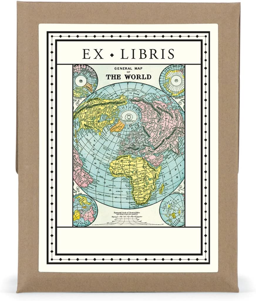 Ex Libris World Map Bookplates
