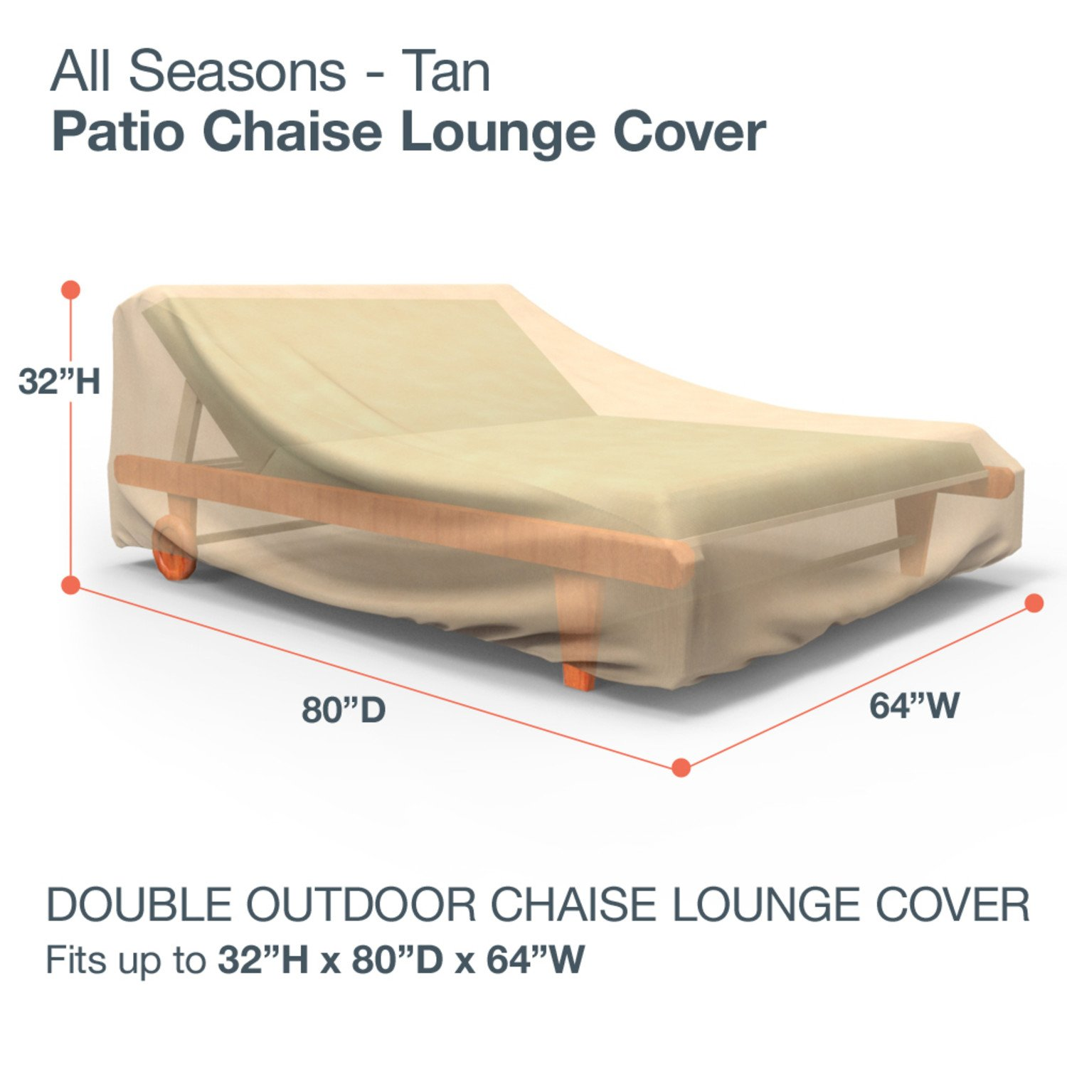Amazon Budge All Seasons Double Patio Chaise Lounge Cover