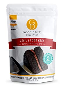 Good Dee's Devil's Food Cake Mix | Low Carb Keto Sugar Free Cake Mix (2g Net Carbs, Per Serving), Grain-Free, Gluten-Free & Sugar Free Cake Mixes for Diabetics, Atkins & Weight Watchers