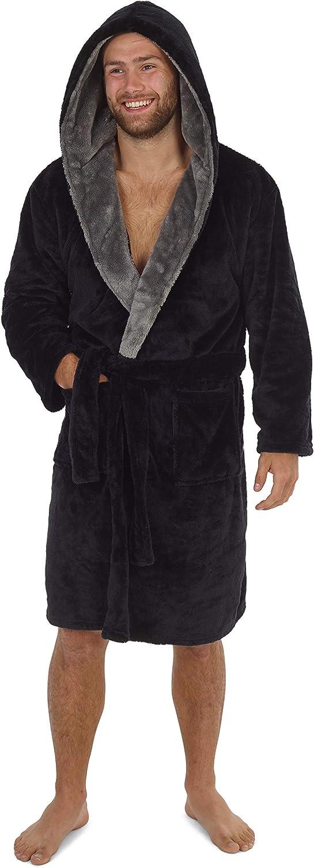 Regalo per Lui CityComfort Vestaglia Uomo Vestaglia Lunga con Cappuccio Vestaglia in Pile Super Morbido Confezione Regalo Vestaglia Invernale da Uomo in Caldo Pile