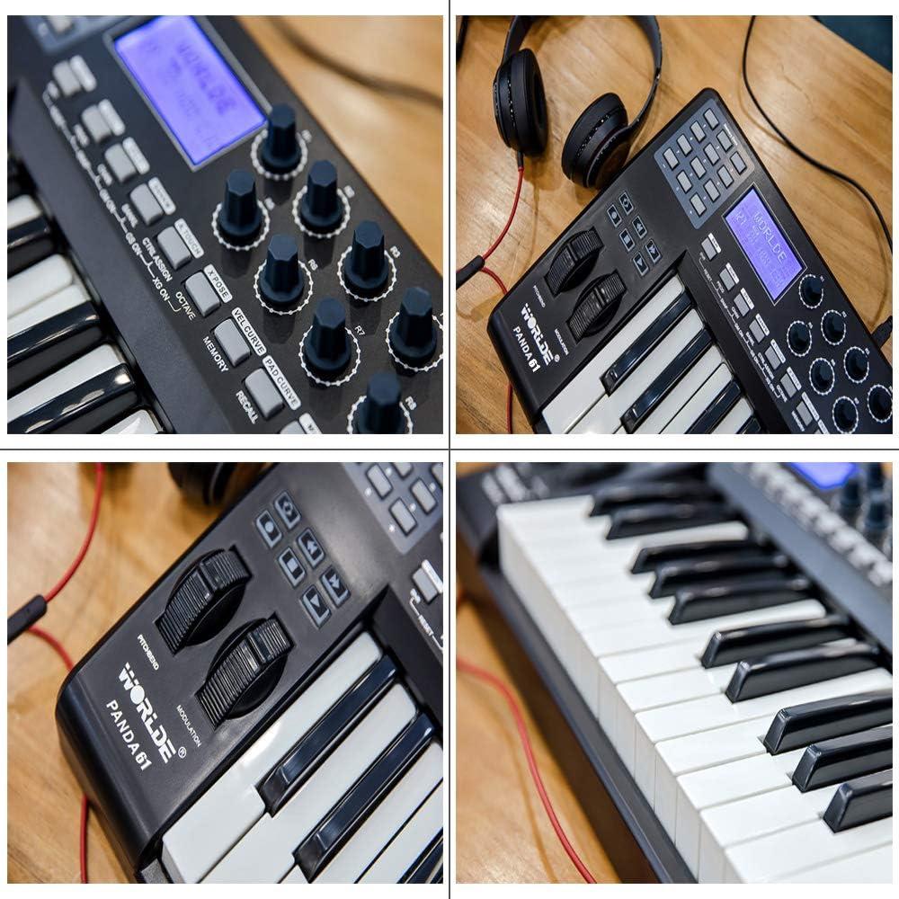 Muslady WORLDE PANDA61 Portátil 61 teclas Controlador de ...