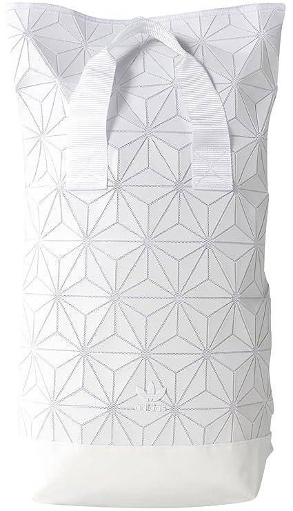 adidas BP ROLL TOP 3D Rucksack, Weiß Blanco 45 x 24 x 36