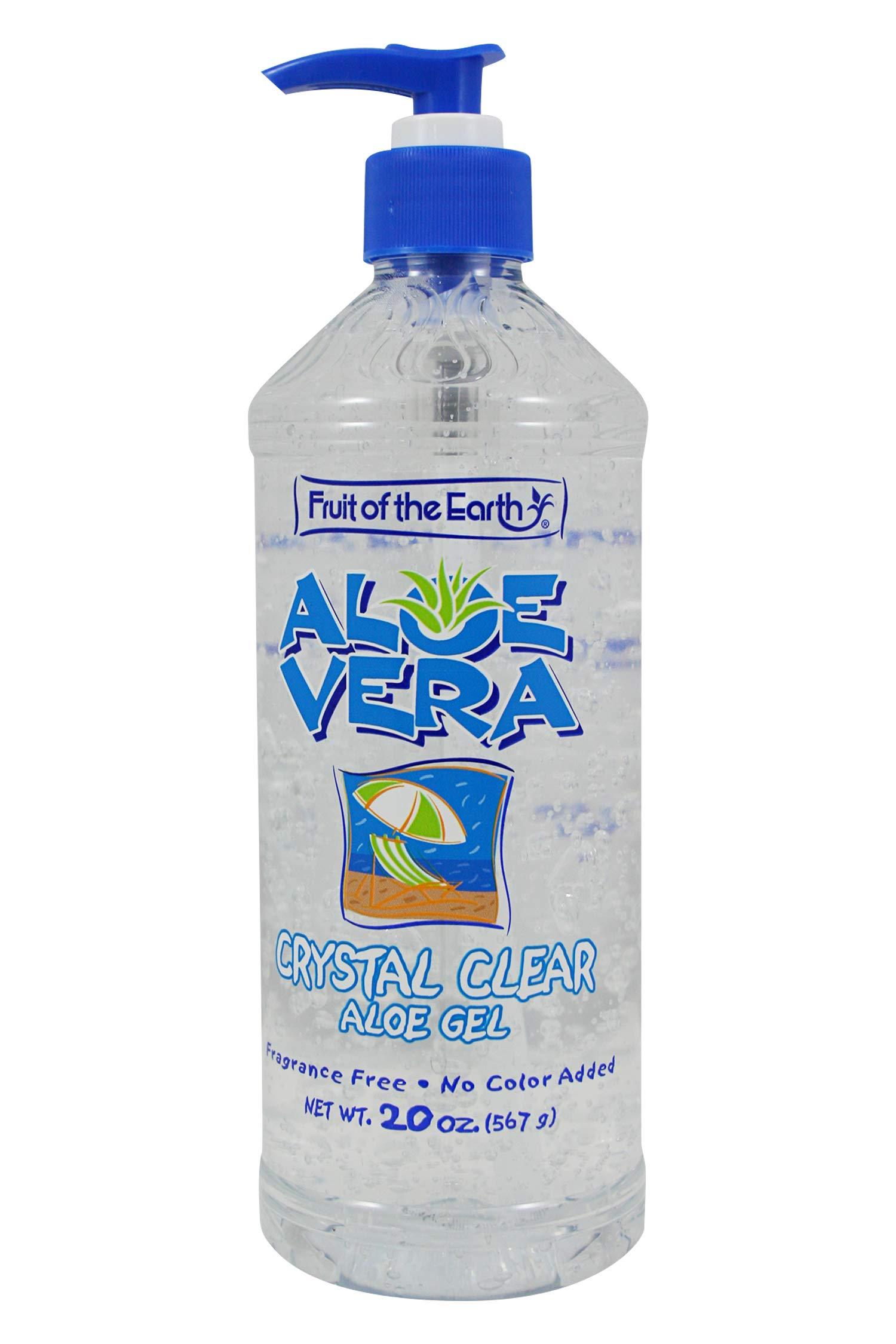 Fruit of the Earth Aloe Vera Crystal Clear Aloe Gel 20 oz (Pack of 6)