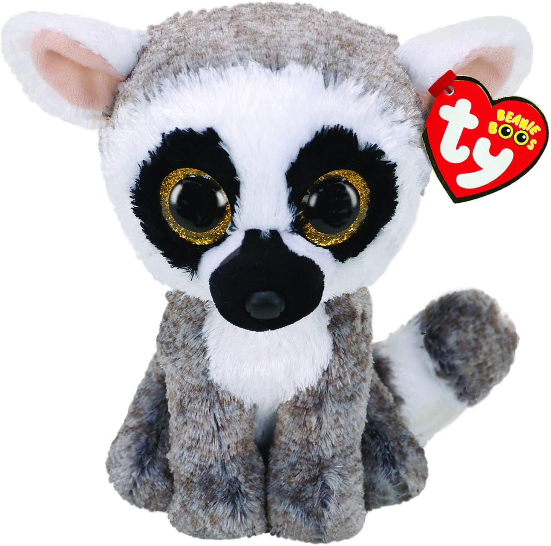 Alaska Stuffed Animals, Amazon Com Ty Uk Ltd 36224 Linus Lemur Beanie Boos Plush Toy Multicoloured 15cm Toys Games