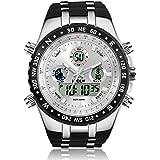 メンズ腕時計 多機能スポーツウォッチ HPOLW アナデジ表示 クロノグラフ 日本製クォーツ プレゼント