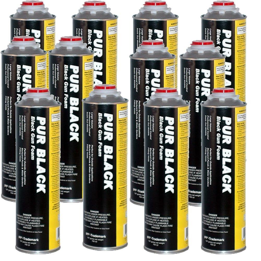 Pur Black Foam 1 Case (12) X 32 oz. Cans by PUR (Image #1)