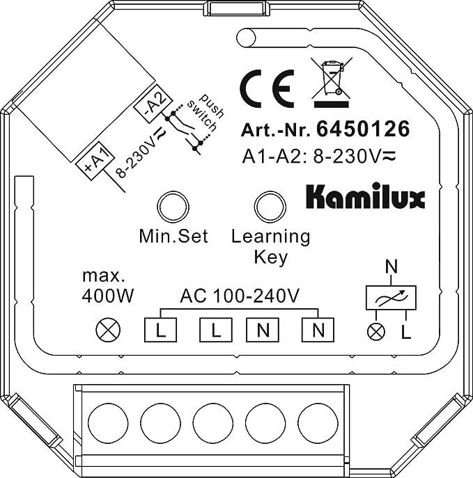 400 W kamilux ® pour DEL-Projecteur Incl Radio-Variateur Set Max Télécommande
