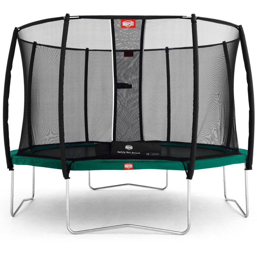 Berg Toys 35.12.02.00 Trampolin Favorit 380 mit Sicherheitsnetz Deluxe