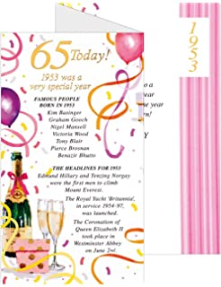 Simon Elvin 2018 65th Female Birthday Card