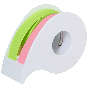 Post-it fuerte adhesivo rollo 12 mm ~ 10 m 2 dispensador de volumen con rosa Lime ssr-12pg: Amazon.es: Oficina y papelería