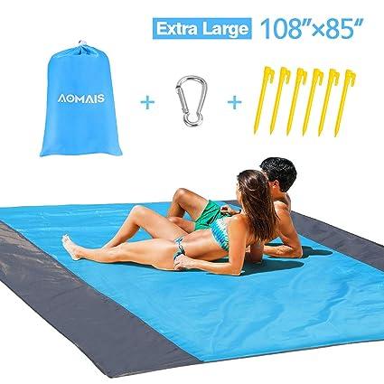 Amazon.com: Aomais - Manta de playa sin arena para acampada ...