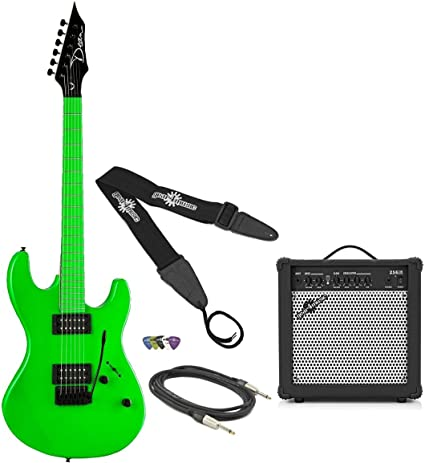 Dean Custom Zone Guitar Pack Neon Green: Amazon.es: Instrumentos musicales