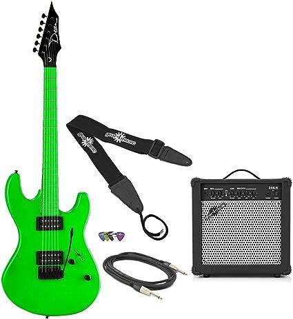 Dean Custom Zone Guitar Pack Neon Green: Amazon.es: Instrumentos musicales