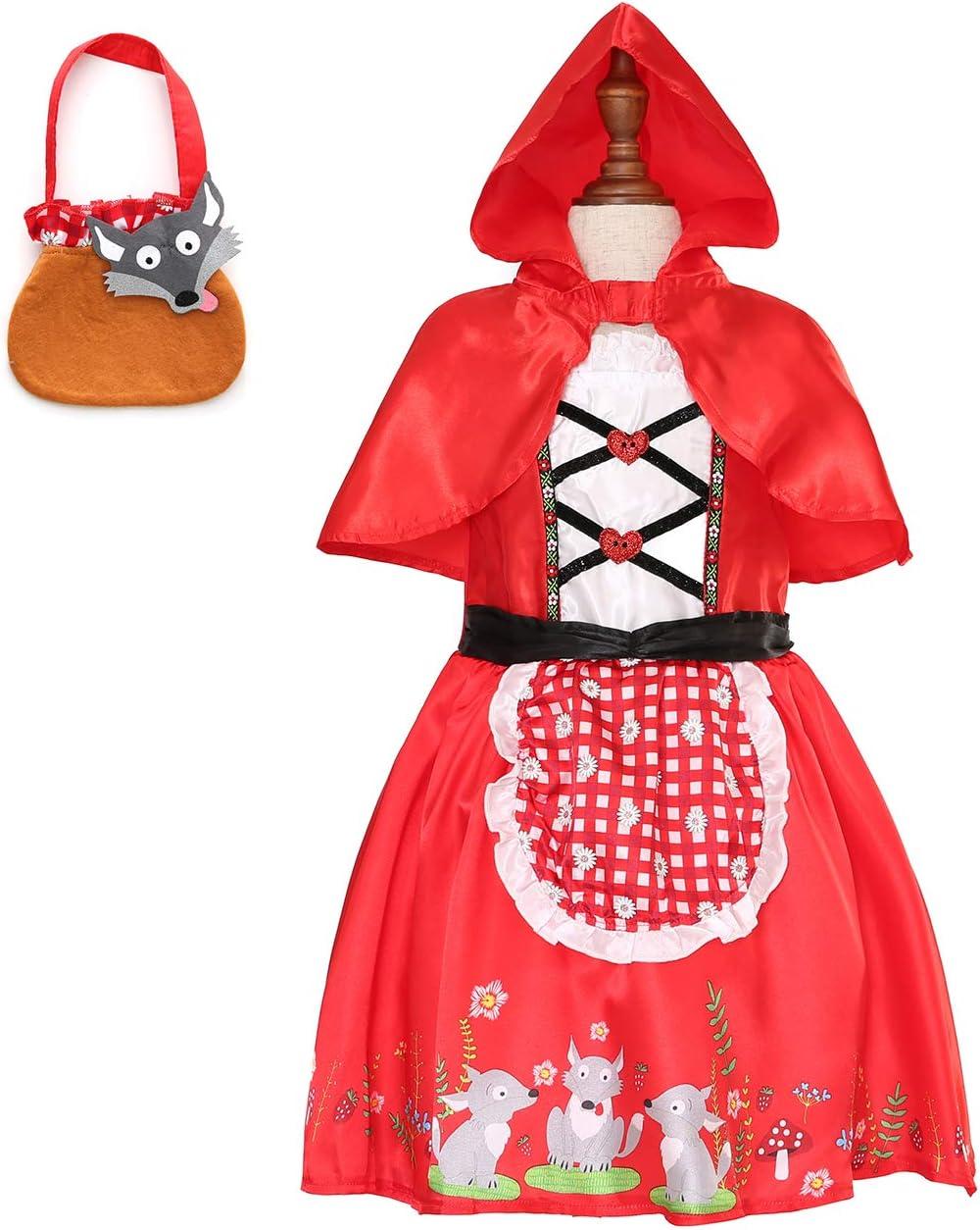 Sincere Party - Disfraz de Caperucita Roja con vestido con capa y ...