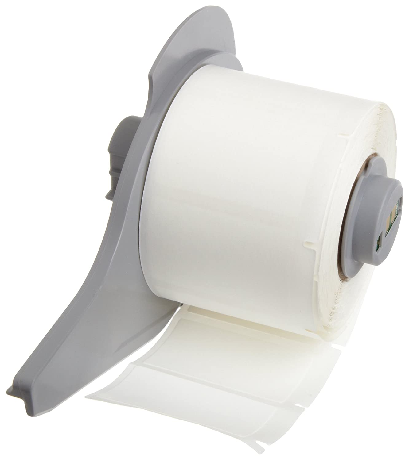 Brady M71C-240-498 0.24 Width x 30 Height White Color B-498 Repositionable Vinyl Cloth Label With Semi-Gloss Finish For BMP71 Label Printer Brady Corp