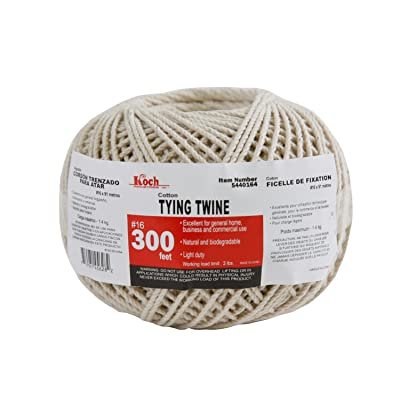 Koch Industries 5440164 Twisted Cotton Heavy Wrapping Twine, Number 16 by 300-Feet, Natural: Home Improvement