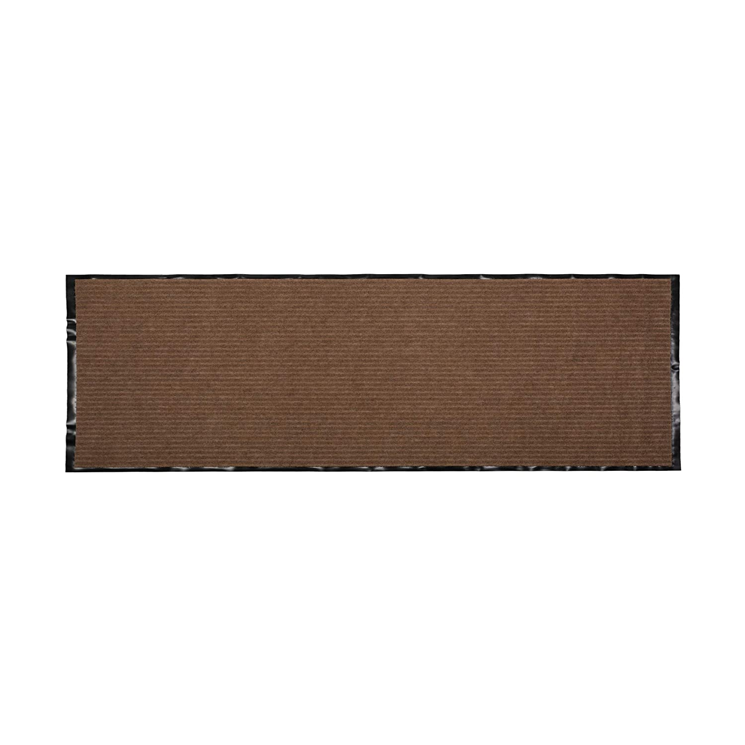 J&M Home Fashions Heavy Duty, Xtra Long Waterproof Ribbed Utility Doormat (22x60 - Brown) Entry Way Shoes Scraper for Patio, Garage, or Front Door, Trap Dirt, Debris, Mud Outside J & M Home Fashions 10343A