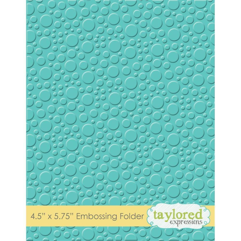 Taylored Seeding Embossing Folder Bubbles Taylored Expressions TEEF26