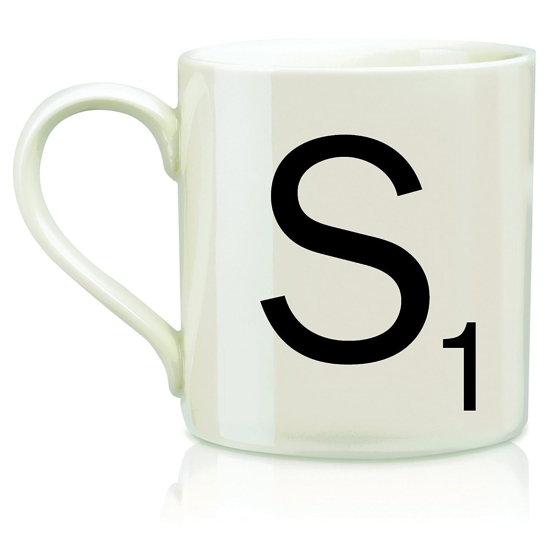 Amazon.com: Scrabble Letter Ceramic A Scrabble Mug, Cream/Black (14  Ounces): Kitchen & Dining