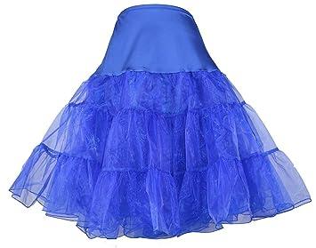 Dance Fairy Tutu enagua falda de crinolina rockabilly de los aos 50 de la vendimia azul
