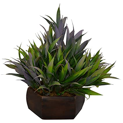 81c9ebeac098 Buy Fancy Mart Artificial Bamboo Leaves Plant (Size 7.5 Inchs  20 cms) With  Wood Hexagun Pot-1381 Online at Low Prices in India - Amazon.in