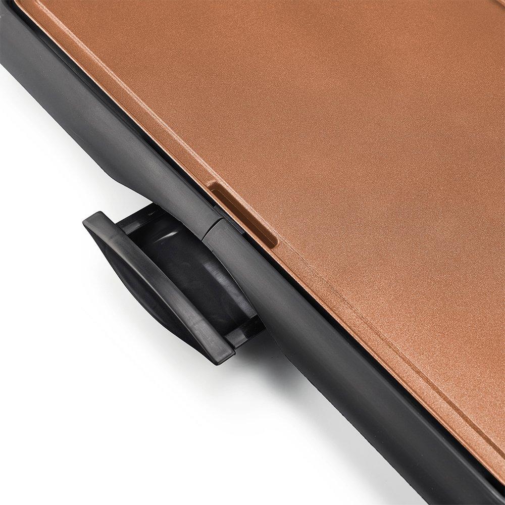 BELLA 10.5 x 20 Inch Copper Titanium Coated Electric Non-Stick Griddle, 1500 Watts 14606 by BELLA (Image #2)