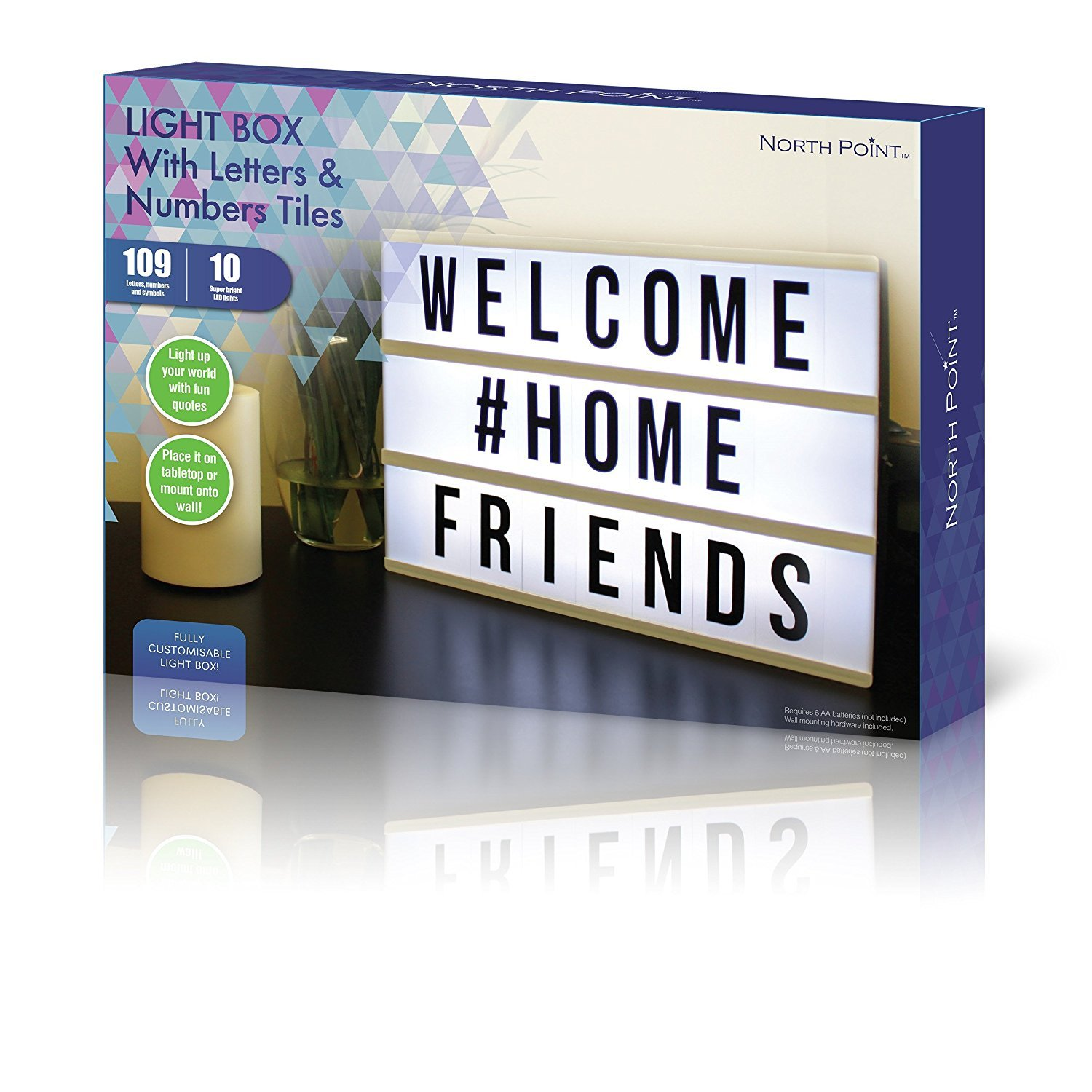 Northpoint GM8282 Lightbox with 109 Letters, Numbers and Symbols, ONE Size, White by Northpoint