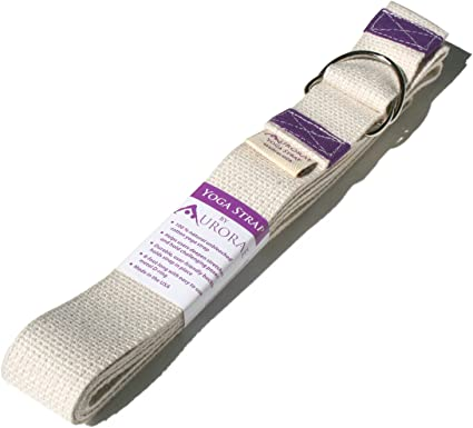 Aurorae Yoga Special Offer; 8 Foot Yoga Strap with D Ring