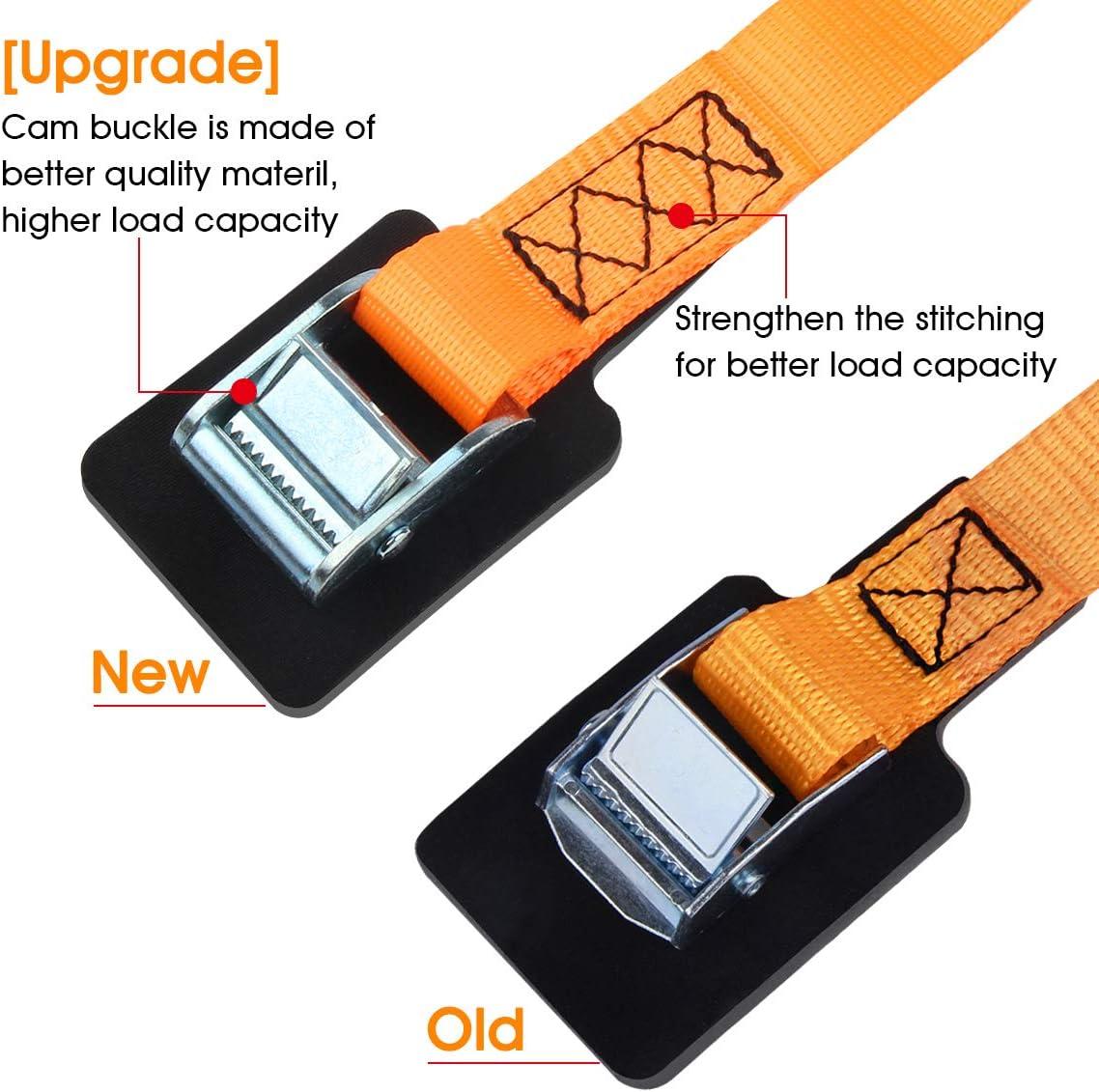 4-Pack JCHL Lashing Straps Sturdy 1 x 20 Tie Down Strap Cargo Tie-Down Strap Padded Cam Lock Buckle 1000lbs Capacity