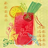 Ideal Home Range 20 Count 3-Ply Paper Fruit Cocktail Napkins, Bloody Mary