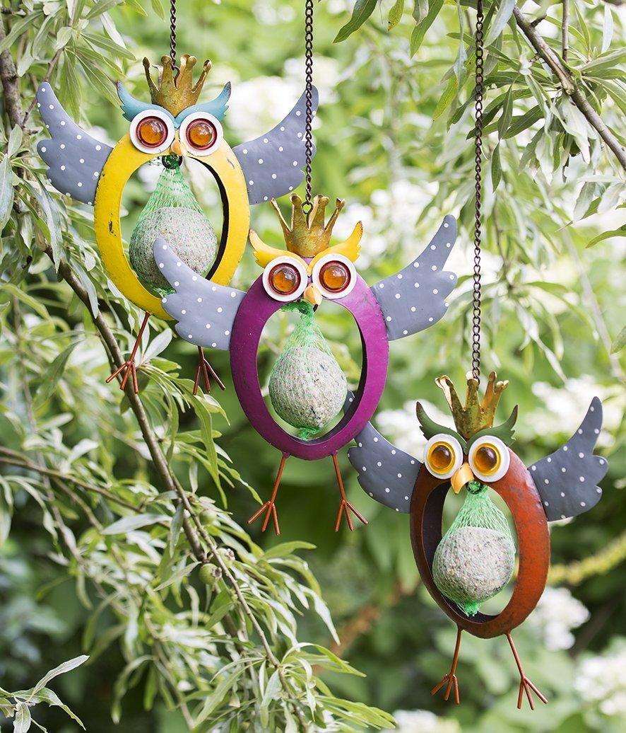 Graisse pendantes Crazy Hibou Suspension pour la nourriture pour oiseaux mangeoire pour oiseaux CASABLANCA